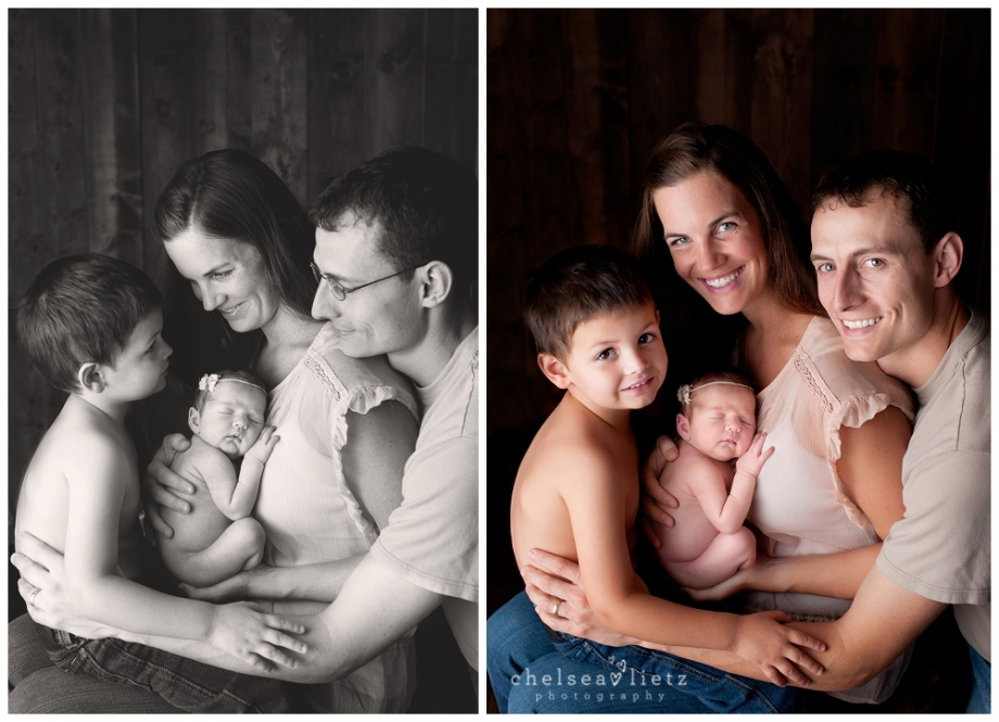 Newborn Family Photo Poses